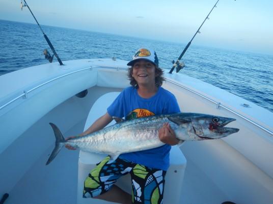 Big Miami Kingfish caught on a miami fishing charter