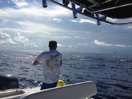 Vertical jigging for tuna off Miami, FL