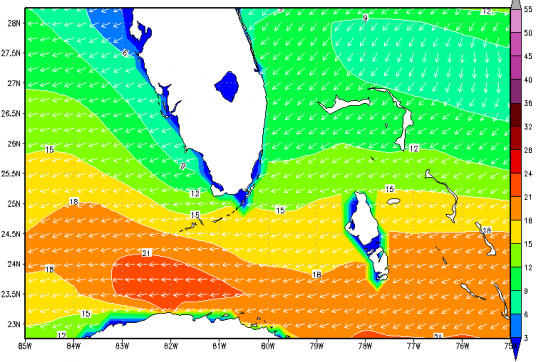 A Typical Wintertime Wind Pattern in South Florida