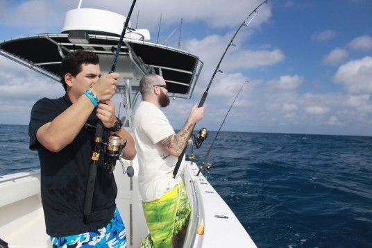 Carlos and Dustin Hooked up on Miami Sailfish