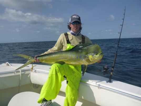 Capt. Todd with a big Mahi Mahi caught off Miami