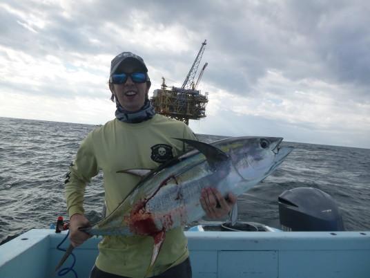 Todd Malicoat with a Venice, LA Yellowfin Tuna
