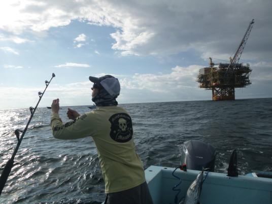 Capt. Todd Malicoat fishing in Venice, LA