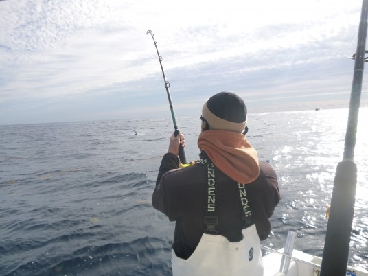 Marcus  Griffin catching a sailfish in Miami, FL