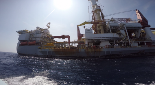 drill ship up close